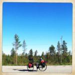 Mittlerer Teil des Lappland Straßenpanoramas
