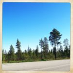 Rechter Teil des Lappland Straßenpanoramas