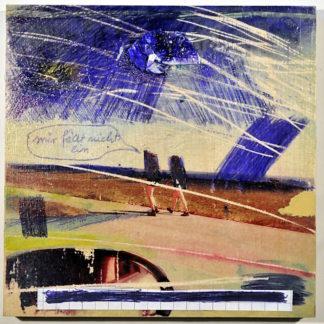 Blick aus dem Fenster eines an zwei Passantinnen vorbei fahrenden Autos. Man sieht noch den Rückspiegel vor der Szene da draußen, in der sich die Passantinnen umwenden und unter düsterem Himmel in Sprechblase sagen: Mir fällt nichts ein.