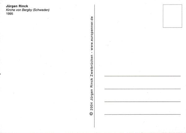 Postkartenrückseite schwarz-weiß mit Adressfeld und Linierung.