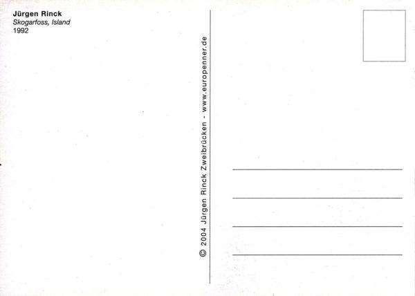 Postkartenrückseite mit Titel, Adressfeld und Briefmarkenfeld.